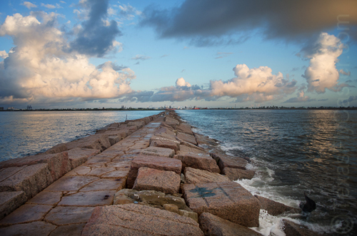 Quintana Park Jetties Texas