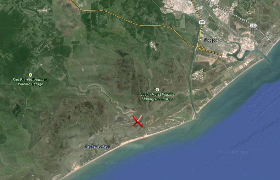 HOTSPOT Cedar Lakes Texas For Slot Redfish Including Satellite - Satellite maps texas