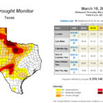 New Texas drought map