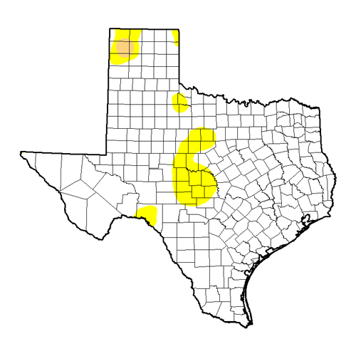 June Texas Drought Map