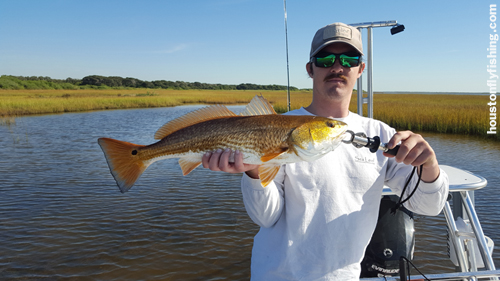 texas redfish on fly lydia ann flymasters tournament courtesy houstonflyfishing