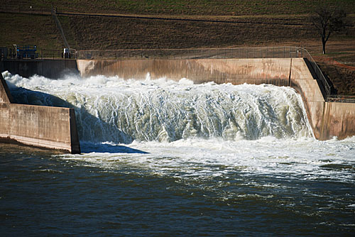 Denison Dam Flood Release December 2015