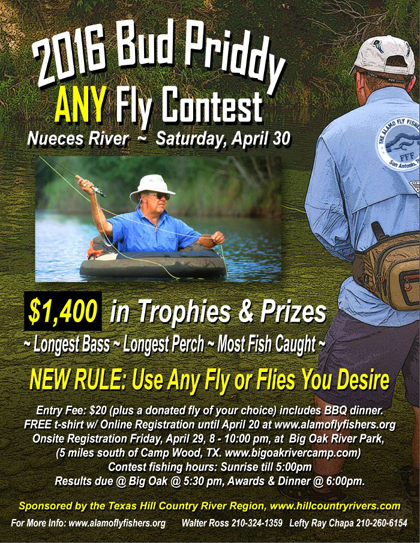 Bud Priddy 2016 Any Fly Contest