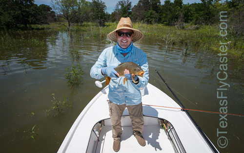 texas carp guide on fly