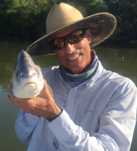 freshwater drum on fly texas fly caster