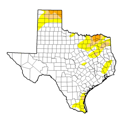 Texas Drought map January 2017