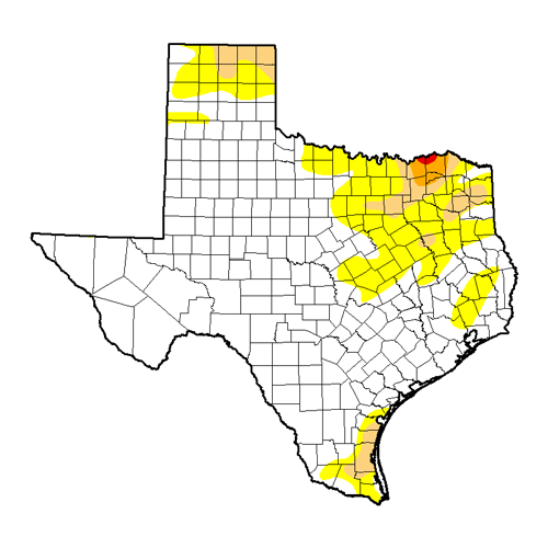 Texas Drought Map 011717