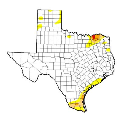 Texas Drought Map 22017