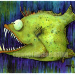 Fly Fishing Art Friday – Santa Fe Texas Fish With Attitude