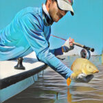 carp on fly lake ray roberts texas skiff fly fishing