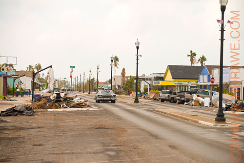 Downtown Rockport after Hurricane Harvey
