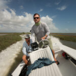 Skiff flying through Texas Marsh 2017 Rockport