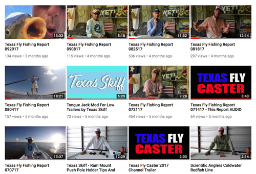 Texas Fly Caster on YouTube