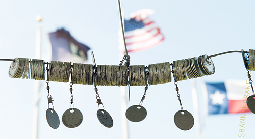 WWI Dog Tags on the Square Gazebo