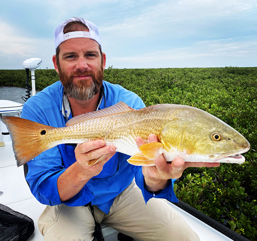 Port O'Connor Texas redfish on fly.